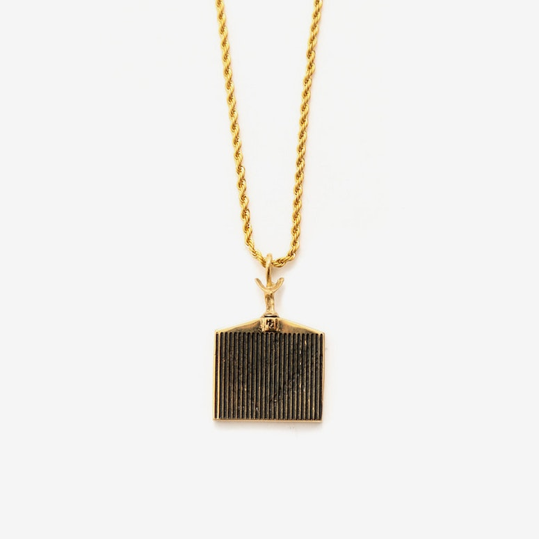 HC Grill Pendant Necklace Gold