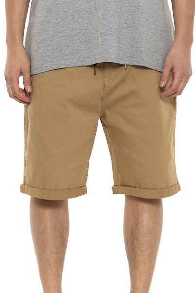 Coney Denim Short Tan